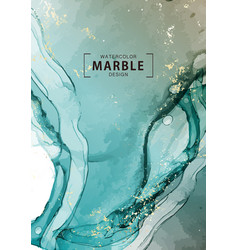 Deep blue ocean watercolor wave macro abstract vector