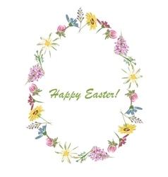 Easter floral egg for your design vector image