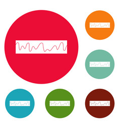 Equalizer sonic icons circle set vector