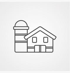 farm icon sign symbol vector image