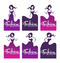 fashion logo vector image