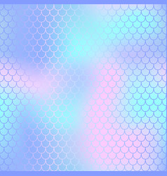 fish scale pattern with pastel color mesh vector image