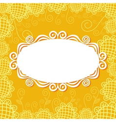 Floral pattern card background vector image
