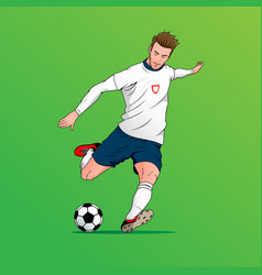 football player version 2 vector image