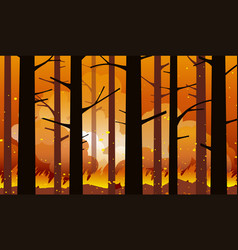 forest fire natural disaster vector image