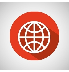 globe technology internet design icon vector image