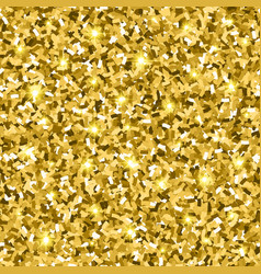 gold glitter seamless pattern vector image