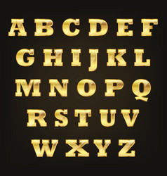 golden alphabet letters vector image
