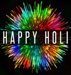 Happy Holi Indian spring festival colorful splash vector