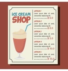 ice cream shop isolated icon vector image