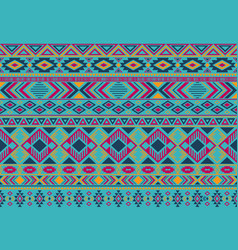 ikat pattern tribal ethnic motifs seamless vector image