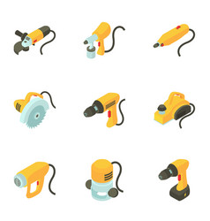 Instrument icons set cartoon style vector