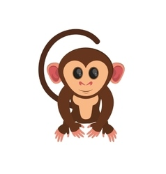 Isolated monkey cartoon design vector