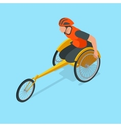 Isometric Olympic sports for peoples with disabled vector