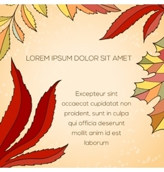 Leaves invitation card vector