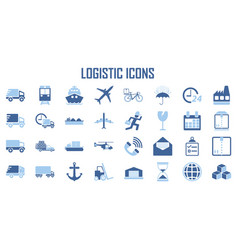 logistic transport shipping icon vector image