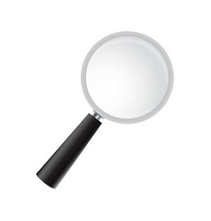 Magnifying glass on a white background vector