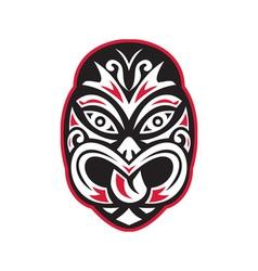Maori tiki moko tattoo mask vector