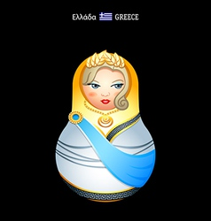 Matryoshka greece vector