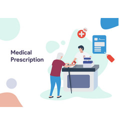 medical prescription vector image