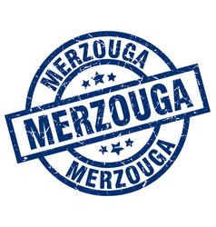 merzouga blue round grunge stamp vector image