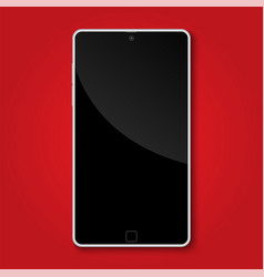 mock up smart phone on red background with copy vector image