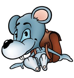Mouse in School vector image