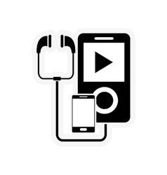 Mp3 player and cellphone icon vector