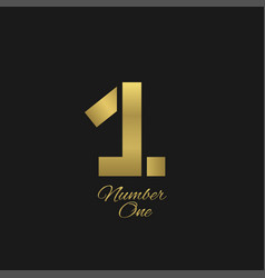 Number one sign vector