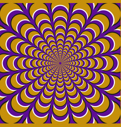 Optical yellow crescents vector