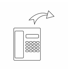 Outgoing call icon thin line style vector image