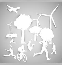 paper eco vector image