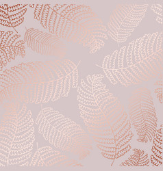 Pattern with fern leaves and imitation rose vector