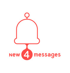 red bell with new messages vector image