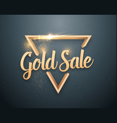 Sale lettering with glitter effect vector