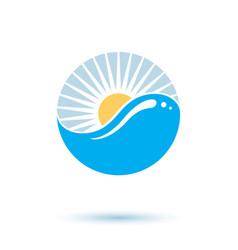 Sea wave splash logotype world water day theme vector