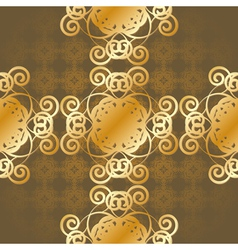 seamless gold background vector image