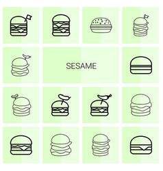 sesame icons vector image