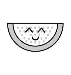 Silhouette kawaii nice happy watermelon icon vector