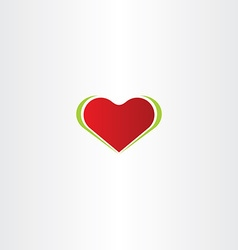 smooth red heart logo icon vector image
