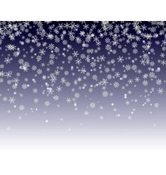 snowflakes fall vector image