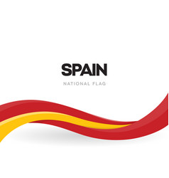 spanish waving flag banner national symbol vector image