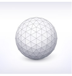sphere with triangular faces vector image