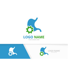 Stomach and gear logo combination unique vector