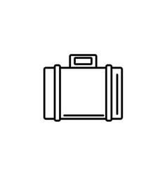suitcase luggage summer icon line vector image