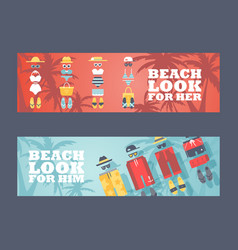 summer vacation on beach vector image