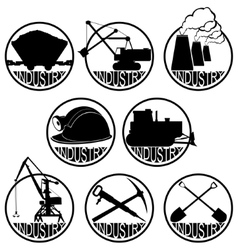 The coal-mining industry vector