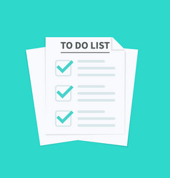 to do list or planning concept paper sheets with vector image