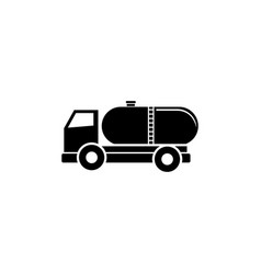 truck auto barrel oil transportation flat icon vector image