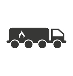 truck fuel tank isolated icon vector image
